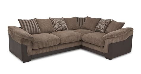 Dfs Hallow Brown Fabric Corner Sofa With Foam Base