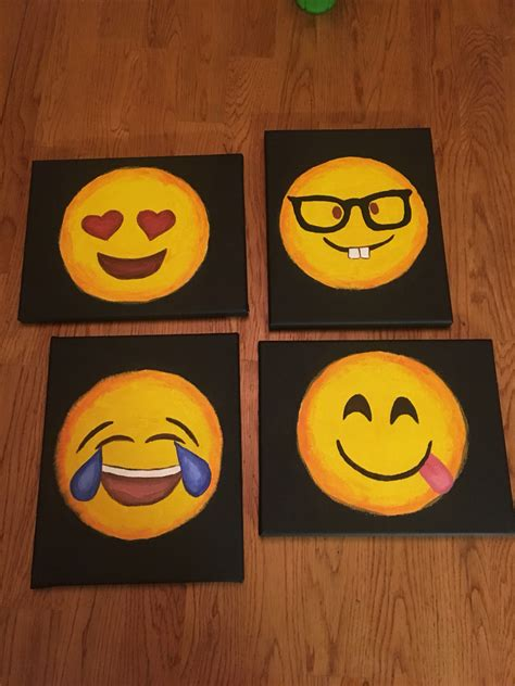 paint emoji this was my first time painting on canvas super easy and