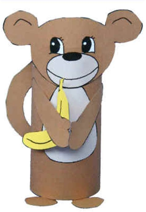 dltk toilet paper roll crafts monkey craft