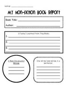 Non Fiction Book Report Template 2nd Grade by Book Report Nonfiction Facts It Is And Student