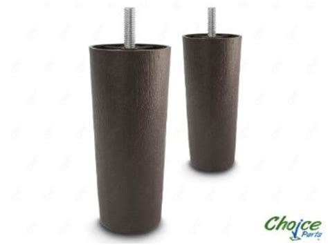 plastic sofa legs replacement choice parts 5 inch dark walnut plastic sofa legs pack