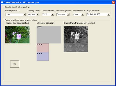 format file real player yuv player yuv rgb converter yuv analyzer and editor