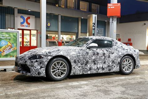 toyota germany new toyota supra spied up close while visiting a gas