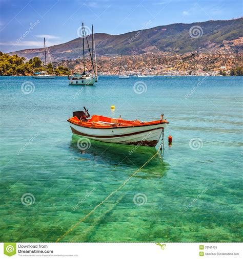 fishing boat greece fishing boat greece royalty free stock photo image