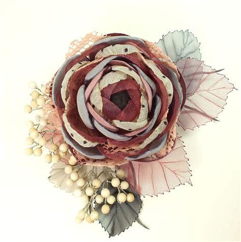 Handmade Flower Brooches - valley winter berries brooch handmade flower shop