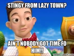 Lazy Town Meme - stingy from lazy town