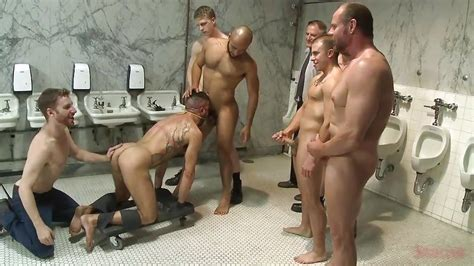 Leo Forte Big Red Marcus Isaacs Eli Hunter In Quot Gay Gangbang In A Public Bathroom Quot Hd From