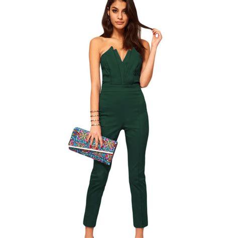 green pattern jumpsuit popular womens green jumpsuit buy cheap womens green