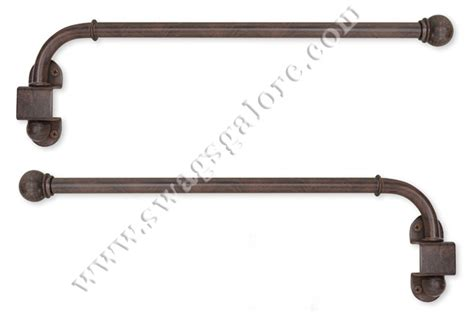 Swinging Arm Curtain Rod by Swing Arm Curtain Rods Finishing Touch Antique Brown