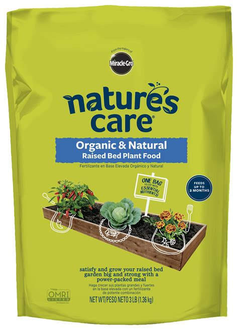 natures care organic natural raised bed plant food