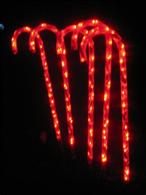 led christmas candy cane path light set ebay