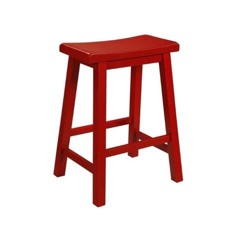Coloured Stools Furniture by Powell Furniture Color Story 24 Quot Counter Stool In Crimson