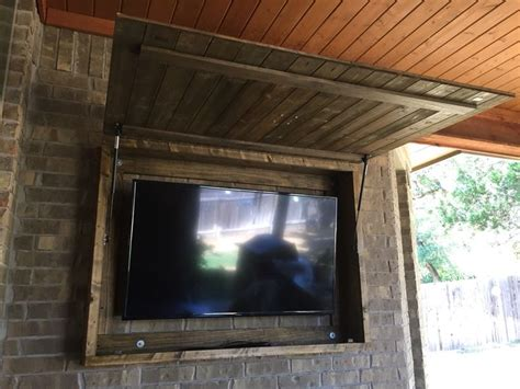 outdoor tv cabinet plans our new custom outdoor tv cabinet home pinterest plasma