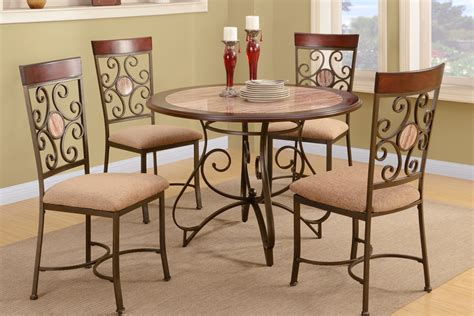 metal dining table and chairs fashion with metal frame dining table and chair set