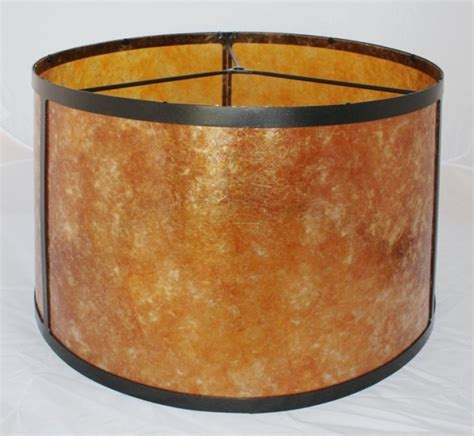 vintage leaded mica drum shape l shade mica drum floor l shade amber or silver
