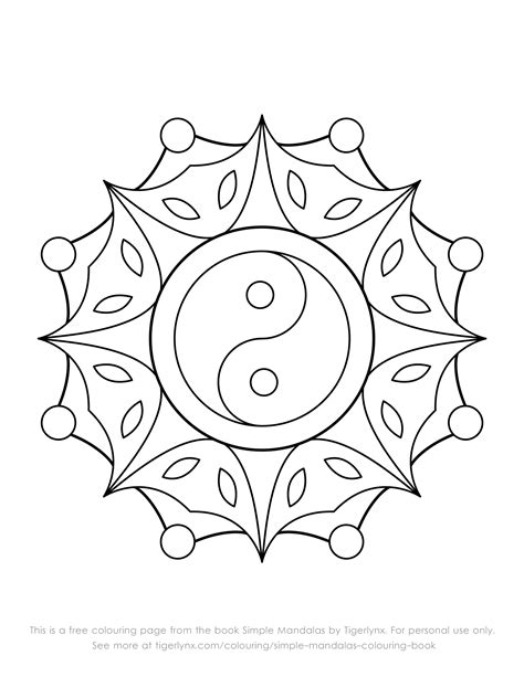 mandala coloring book fabulous designs to make your own this is a free colouring page with an easy yin yang