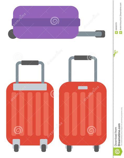 sulle ruote grandi valigie moderne sulle ruote illustrazione