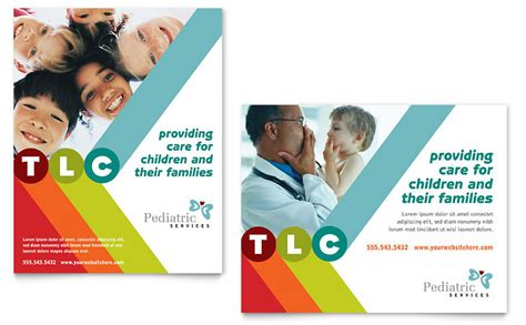 microsoft templates for posters pediatrician child care poster template word publisher