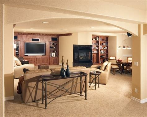 shows arches in basement height ceiling basement ideas