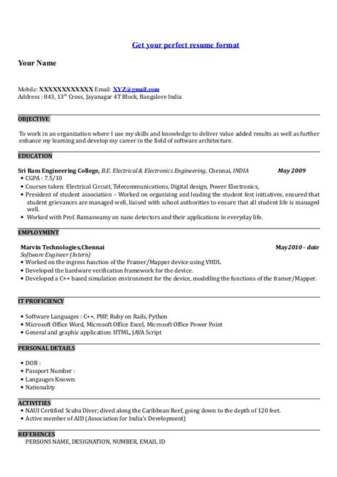 biodata format civil engineering civil engineer resume sles india