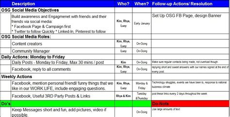 social media marketing plan template template idea