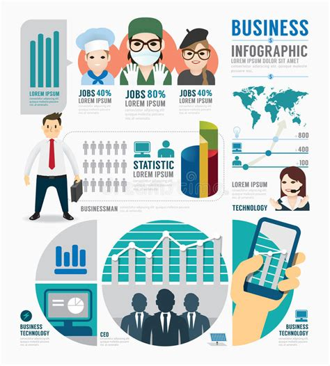 Infographic Business Job Template Design Concept Vector Stock Vector Illustration Of Chart Career Infographic Template