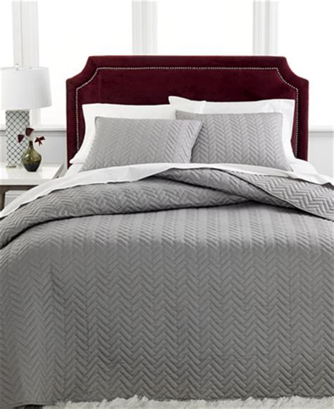 charter club coverlet charter club damask collection herringbone pima cotton 3