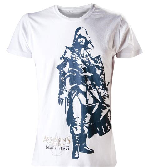 Assassin S Creed 4 T Shirt acheter assassin s creed 4 t shirt edward blanc s