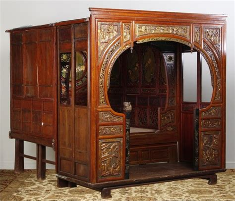 chinese wedding bed 285 19th c chinese wedding bed lot 285