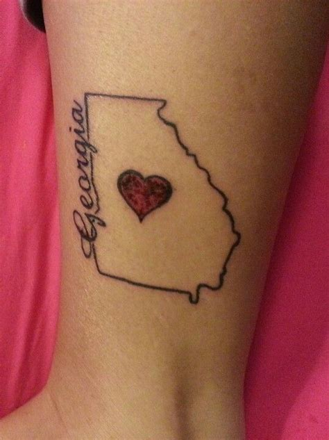 state outline tattoo my a day after it was done i absolutely