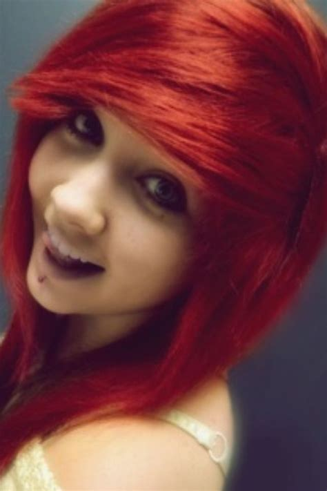 dyed emo hairstyles red dyed scene hair pretty hairstyles pinterest