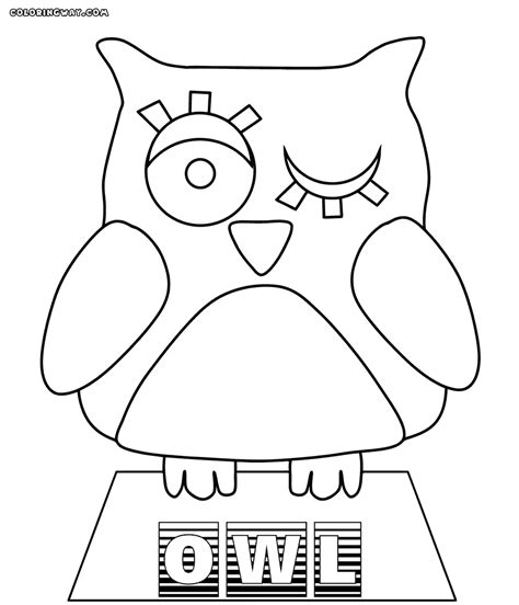 sleeping owl coloring page baby owl coloring pages sleeping owl coloring page