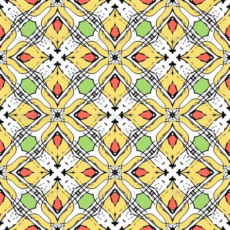 line pattern in spanish oriental pattern with indian and thai ethnic motifs