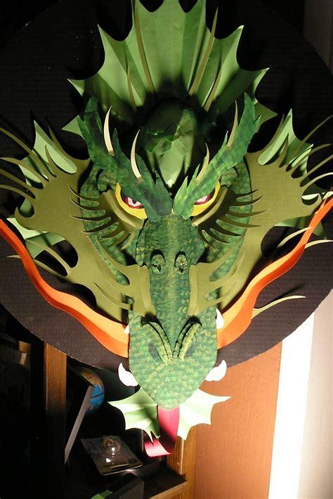 make a cardboard dragon