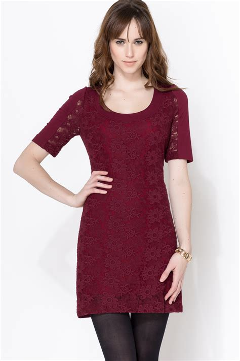 Dress Maroon plenty by tracy reese maroon lace dress from by neda shoptiques