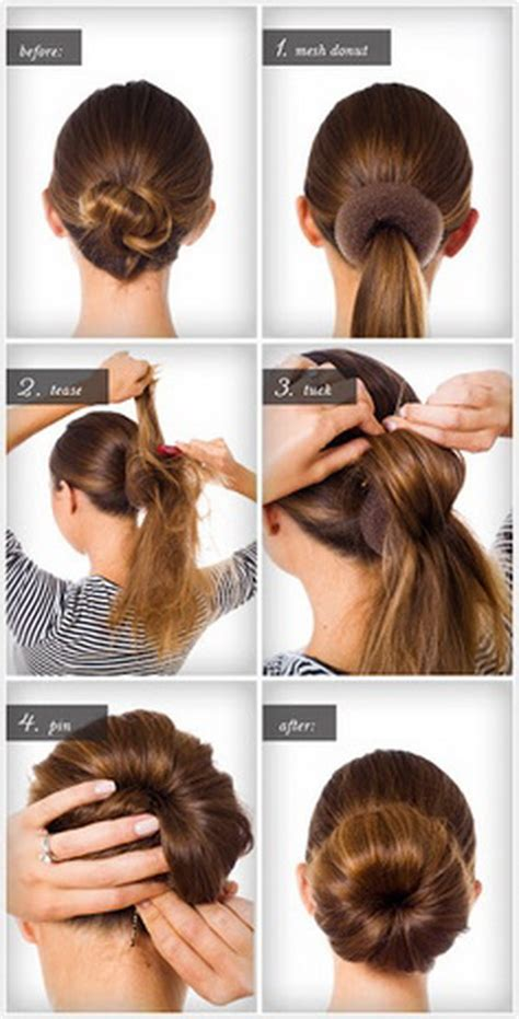 easy buns hairstyles step by step easy step by step hairstyles for long hair