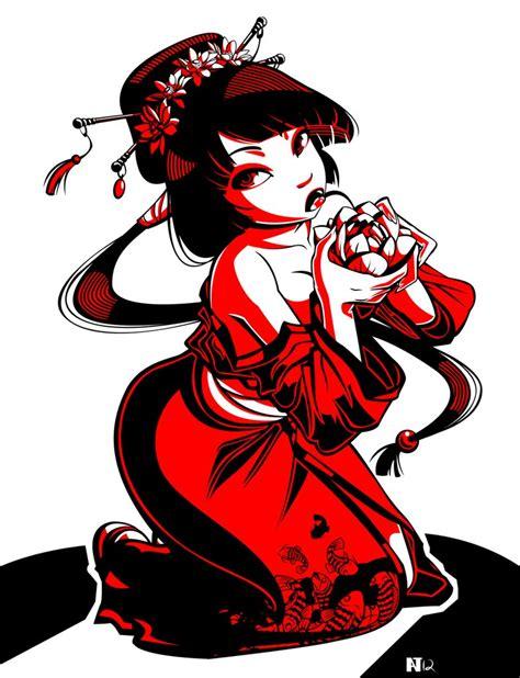 geisha tattoo stencil geisha tattoo 2 by gusana on deviantart