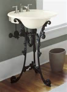 Wrought Iron Pedestals Single Sink Pedestals Bath Sink Consoles Wrought Iron