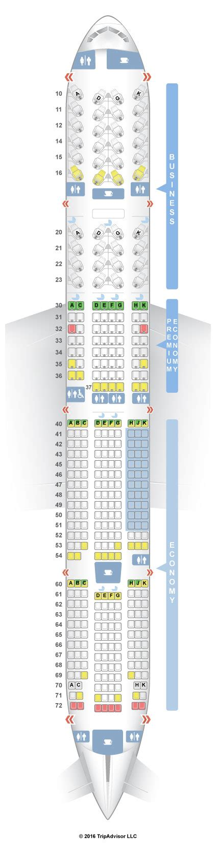 77w seat map seating plan for american airlines boeing 777 300er