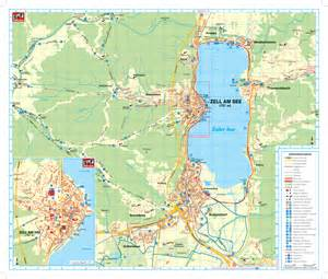 am map maps of zell am see ski resort in austria sno
