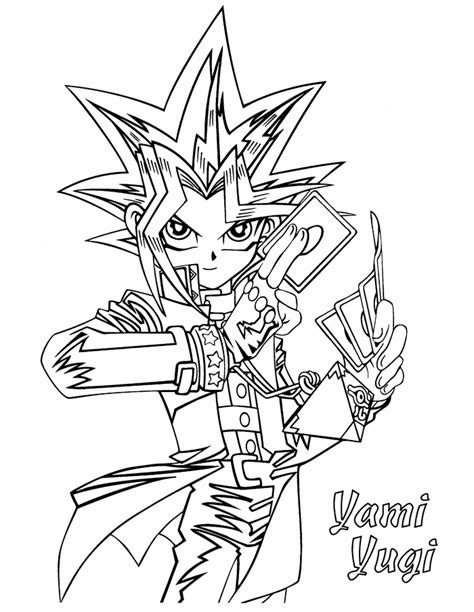 Coloring Page Yu Gi Oh by Yu Gi Oh Coloring Pages Learn To Coloring