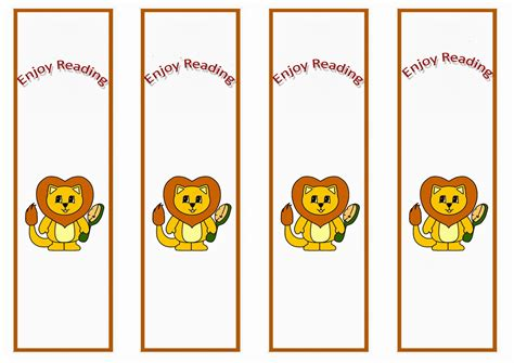 printable animal bookmarks animals bookmarks birthday printable