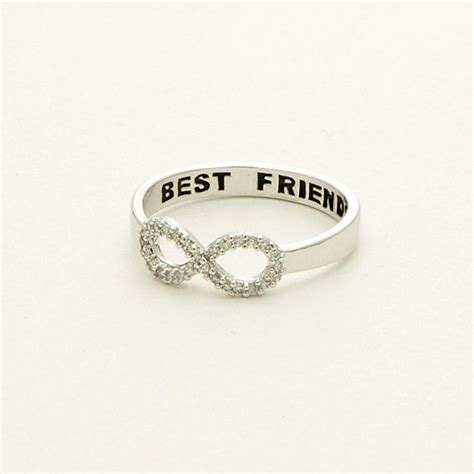 infinity ring best friends cz best friends infinity ring in silver r049s