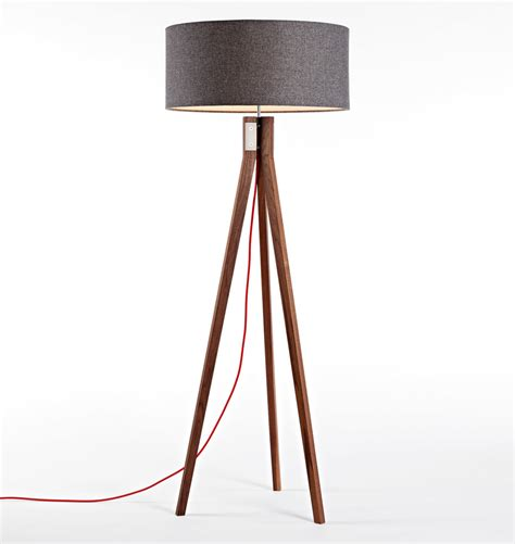 design within reach tripod floor l navy tripod floor l in wood madecom