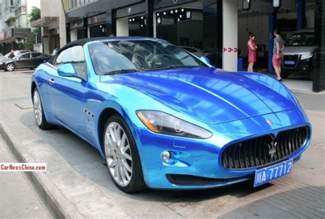 maserati china maserati grancabrio is shiny blue in china carnewschina