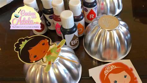 moldes para gelatinas y pasteles mini moldes para gelatinas y recortes de princesas youtube