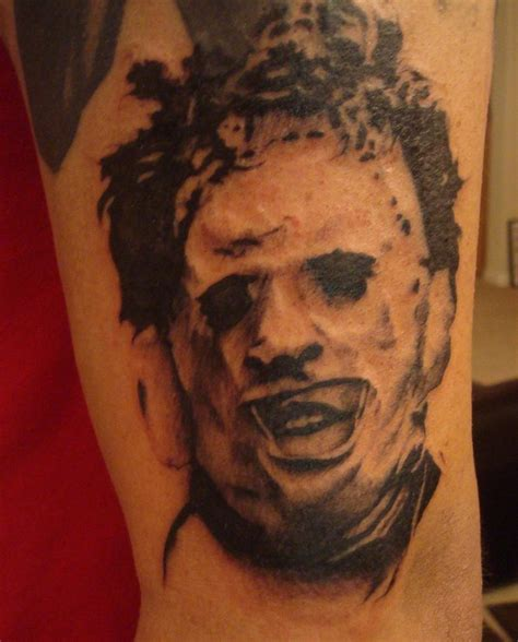leatherface tattoo leather by jadynshyne on deviantart