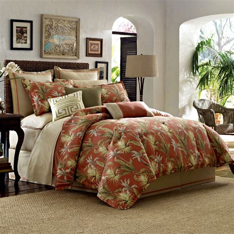 Tommy Bahama Orange Cay 3 Piece King Comforter Set Nip