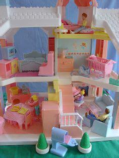 playskool dollhouse 90s 1991 playskool doll house loaded vintage