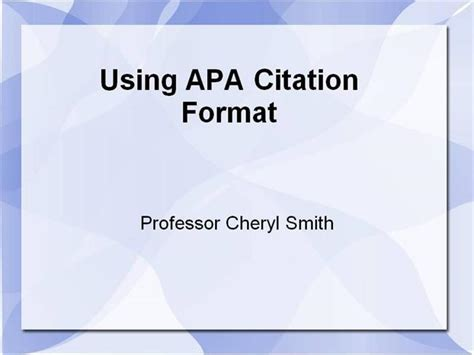Apa For Sls Course Authorstream Apa Format For Powerpoint Presentations